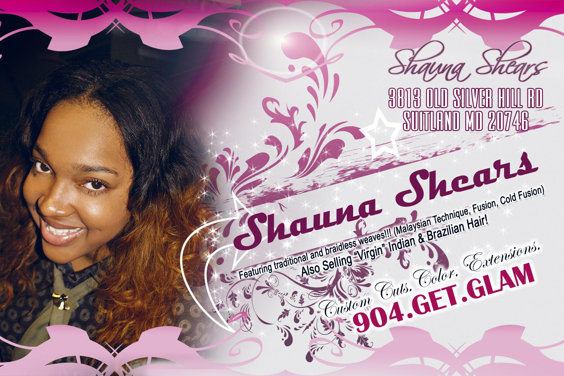 Hair Salon Flyer Design